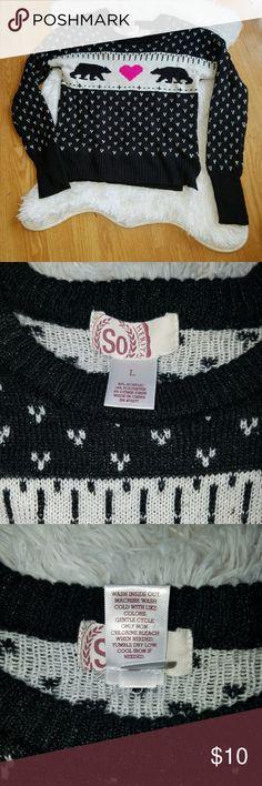 Girls Sweater Size Large Bears Girls size large sweater, So brand, machine wash, tumble dry.  Smoke free pet free home.   BIN F SO Shirts & Tops Sweaters
