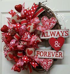 Valentine Wreath,Valentine's Day Wreath,Grapevine Valentine Wreath,Valentine's Day Grapevine Wreath by CherylsCrafts1 on Etsy