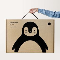 Nannak - mariadiamantes #kids #illustration #decoration #room #mariadiamantes #penguin #design #packaging