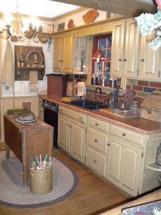 Primitive country kitchens on pinterest primitive kitchen country