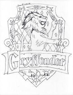 gryffindor coloring crest potter harry deviantart hogwarts easy drawings drawing ravenclaw symbol castle sketch crests template dibujos spells templates deathly