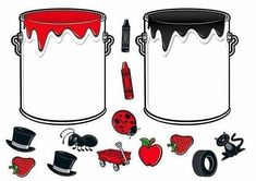 * Doe alles in de juiste verfpot! Montessori Activities, Color Activities, Learning Activities, Activities For Kids, Preschool Classroom, Preschool Worksheets, Preschool Colors, File Folder Games, Color Games