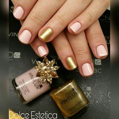 Glamour Rosa&Oro  #DolceEstetica #Vinylux #manicure #glamour #chic #musthave #trendy #fashion