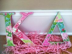 Pretty Lilly KD Letters