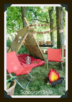 Forests / Camping themes - good idea for reading corner, around fire