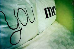 You & Me pillowcase set by dustysandlulu on Etsy, $40.00