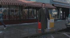 Bill Murray steps off the curb in Groundhog Day Groundhog Day Movie, Bill Murray, Celebs, Celebrities, Cinematography, Good Movies, Holiday Fun, Behind The Scenes, Pop Culture