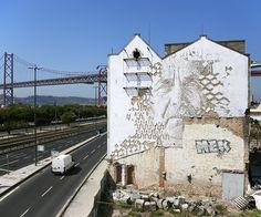 untitled, lisbon, portugal by portuguese artist alexandre farto AKA vhils