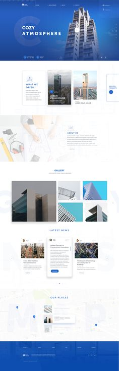 Horizon Construction Website Design