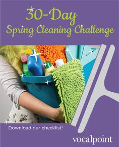 Free 30-Day Spring Cleaning Challenge Checklist Printable #247moms