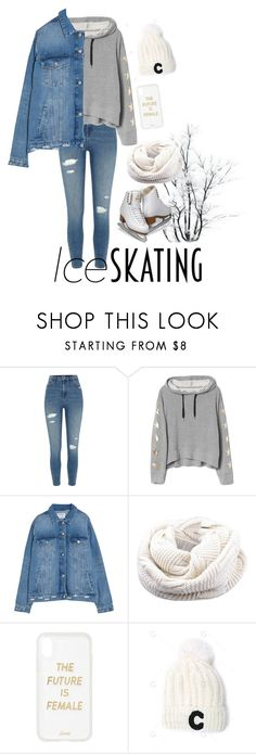 """""""Lets Go Skating"""" by kookiesantana on Polyvore featuring River Island, Sonix and iceskatingoutfit"""