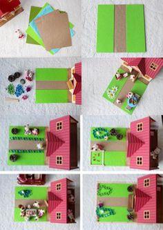 #DIY d'un jardin pour la maison des #SylvanianFamilies.  #Création par…