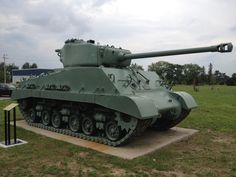 An American built Canadian Sherman medium tank used in WWII. It now sits outside the entrance to the military museum on C. Canadian Army, Canadian History, Military Vehicles, Wwii, Tanks, Entrance, Things To Come, Museum, Canada