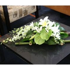 Corporate Flower Arrangement - Flowers for Everyone Table Flower Arrangements, Funeral Flower Arrangements, Beautiful Flower Arrangements, Funeral Flowers, Floral Centerpieces, Beautiful Flowers, Wedding Flowers, Centerpiece Ideas, Deco Floral