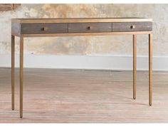 Adapted from our Frank Console, these classic console tables have either two or three drawers and a Frank Metal frame. Also available without drawers.