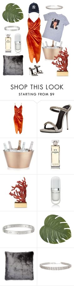 """""""Cali Camparis"""" by ricarda-verderio on Polyvore featuring Mode, Boohoo, Giuseppe Zanotti, Crate and Barrel, Chanel, L'Objet, Marc Jacobs, Cartier, Pier 1 Imports und Etro"""