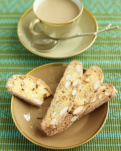 almond-ginger biscotti... tea party?