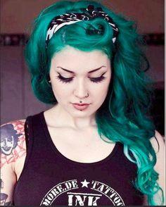 FAIREY MERMAID EXTENSIONS Human Remy Hair Extensions Dark Teal Green. $105.00, via Etsy.