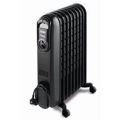 """80€ VENTO V550920 Black Radiateur bain d'huile - Chambre de chaude - Effet """"Venturi"""" - Roulettes multidirectionnelles - Inclus : Guide """"Les économies d'énergie"""""""