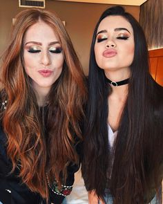 *kisses* right back at ya. Love the Gorgeous Hair btw. Beautiful Long Hair, Gorgeous Hair, Friend Tumblr, Brazilian Women, Best Friends Forever, Tumblr Girls, Hair Goals, Beauty Hacks, Youtube