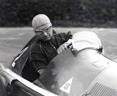 GP Belgique 1950. Point de corde pour Fangio sur la mythique Alfetta ...