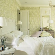 schumacher wallpaper and matching fabric...chenonceau print...multiple color ways