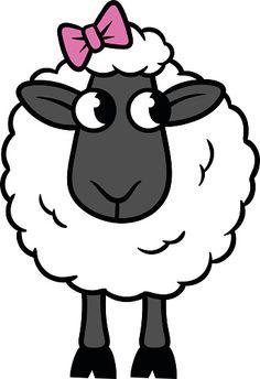 Sheep Illustration, Photo Illustration, Sheep Drawing, Sheep Cartoon, Sheep Vector, Bow Vector, Sheep Art, Kids Room Paint, Farm Yard