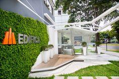 Vista terraza del Showroom ELITE_ Diseñado por el Studio 120 Grados