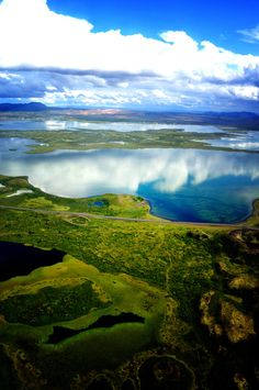 Mývatn, Iceland. We visited Mývatn, in 2012, but it was covered in ice and snow.