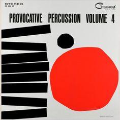 Album cover by Josef Albers (1888-1976),  1962, Provocative Percussion vol. 4.