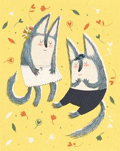 Love cats card by KateHindley on Etsy, $3.95