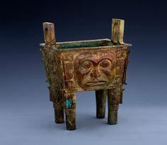 Bronze Owl Shaped Ritual Wine Vessel Bird Zun Shang