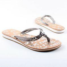 Cute silver coach sandals