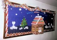 Gingerbread House Bulletin Board. I, Dolores J. Rush, created this gingerbread house bulletin board for the hallway in our children's ministries wing of our church.
