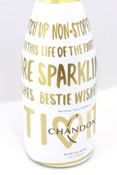 #BestieWishes - ButterflyCannon Create Festive Holiday Bottle for Chandon — The Dieline - Branding & Packaging