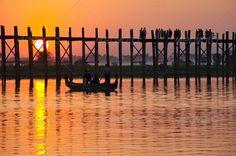 Bridge in Myanmar Myanmar, adventure, amarapura, ancient, archeology, architecture, asia, asian, awa, boat, bridge, burma, cambodia, dark, dawn, destination, dusk, evening, famous, heritage, holy, mandalay, mirror, outdoor, pagan, reflection, river, sacred, sagaing, silence, silhouette, site, sunrise, sunset, tick, travel, voyage, water, way, wood, wooden, Bridge in Myanmar