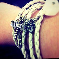 charm bracelet #charm #bracelet #white #dragonfly