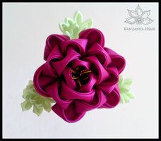 Peony Kanzashi by Kanzashi-Hime