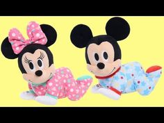 Disney Baby Musical Crawling Pals Plush - Minnie Mouse Image 4 of 5 Baby Mickey Mouse, Disney Mouse, Baby Disney, Baby Girl Toys, Toys For Girls, Kids Toys, Princess Toys, Girly, Baby Store