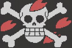 Chopper's Pirate Mark - One Piece perler bead pattern