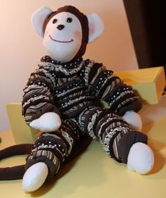 Benjamin YoYo Monkey 26 tall Stuffed Animal by ElizabethsRoom, $55.00 also comes in a smaller version