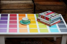 Give a boring table a pop of color.