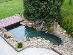 zahradní jezírka s vodopádem - Hledat Googlem
