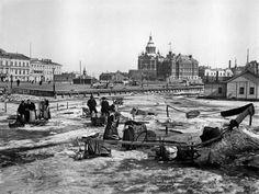 """Eteläsatama vuonna (Part of a collection of """"then and now"""" photos of Helsinki) Then And Now Photos, Map Pictures, Helsinki, Before Us, Finland, Country, World, Painting, Maps"""