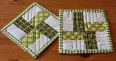 """Fabric requirements/cutting (to make one coaster):  1½"""" x 5"""" - one from fabric A and one from fabric B  1½"""" x 5"""" – two strips from line..."""