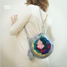 elush OOAK coorful freeform crochet boho purse by diEnes on Etsy, €30.00