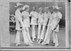 New Look for Nurses -- Seven nurses at Queen of Angles hospital in Los ...
