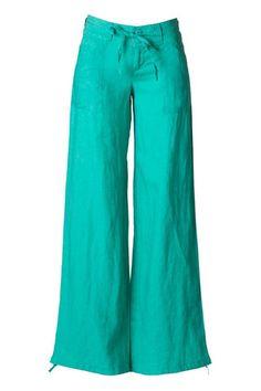 please get in my closet... {Your Way Linen Pants - Jade}