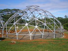 Steel frames for geodesic dome made with steel for hurricanes and tornados