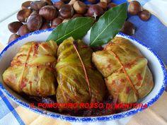 Il Pomodoro Rosso di MAntGra: Involtini di verza con salsiccia e castagne